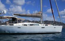 Oceanis 50 : Le bateau au mouillage